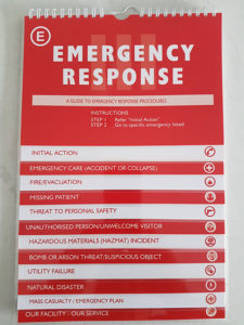 Emergency response plan or business continence plan BCP nz - your guide to survive a natural disaster - emergency response flip chart or business continuity and disaster recovery plan template